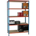 Standard Duty 1200x400mm Painted Orange Shelf Unit Blue 378984