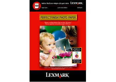 Lexmark PerfectFinish™ Photo Paper, 10x15 cm (50) photo paper