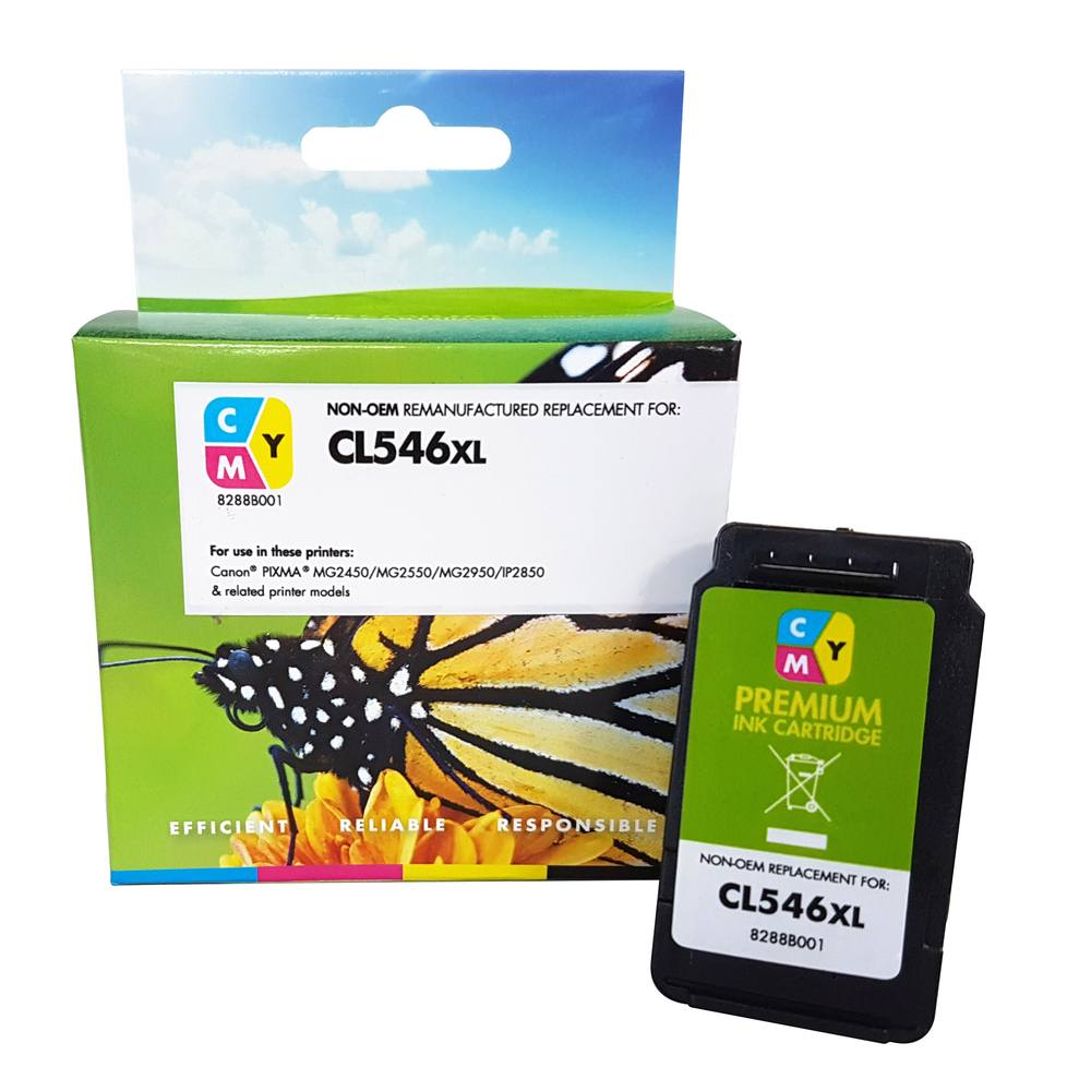 Refilled Canon CL546XL Colour Ink Cartridge