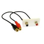 Cables Direct ZZ-MOD-2RCA keystone module
