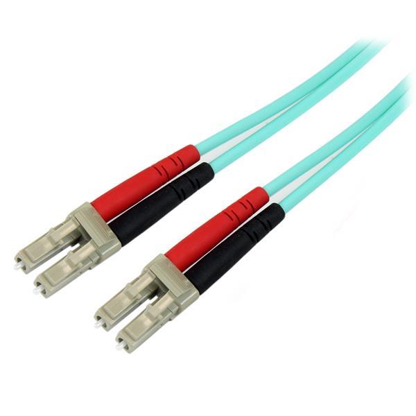 StarTech.com Cable de Fibra Óptica Patch de 10Gb Multimodo 50/125 Dúplex LSZH LC a LC de 10m – Aqua