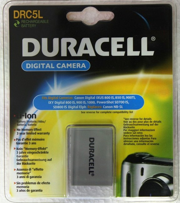 Duracell Digital Camera Battery 3.7v 820mAh