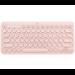 Logitech K380 teclado Bluetooth QZERTY Español Rosa