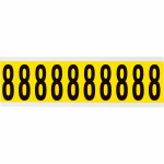 Brady 3440-8 self-adhesive label Rectangle Removable Black, Yellow 10 pc(s)