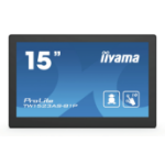 "iiyama ProLite TW1523AS-B1P touch screen monitor 39.6 cm (15.6"") 1920 x 1080 pixels Multi-touch Multi-user Black"