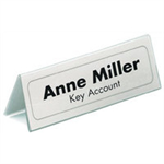 Durable 8050 sign holder/information stand Transparent