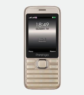 """Prestigio Grace A1 7.11 cm (2.8"""") 102 g Gold Feature phone"""