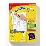 Avery QuickPEEL Addressing Labels self-adhesive label White 2500 pc(s)