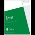 Microsoft Excel 2013, x32/64, 1u, ENG