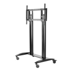 Peerless SR598 multimedia cart/stand Black Flat panel