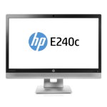 "HP EliteDisplay E240c 23.8"" Full HD IPS Matt Black, Silver computer monitor"