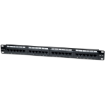 Intellinet Patch Panel, Cat5e, UTP, 24-Port, 1U, Black