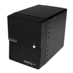 StarTech.com USB 3.0 / eSATA 4-Bay 3.5in SATA III Hard Drive Enclosure w/ built-in HDD Fan & UASP – SATA 6Gbps S3540BU33E