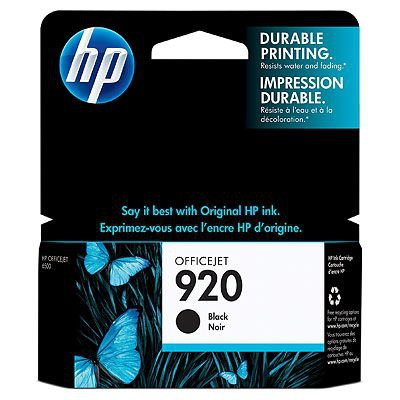 HP 920 Black Officejet Ink Cartridge Origineel Zwart 1 stuk(s)