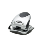 Rexel Precision 240 2 Hole Punch Silver/Black