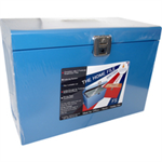 CATHED RAL FSCAP METAL FILE BOX BLUE HOBL