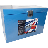 CATHED RAL FSCAP METAL FILE BOX BLUE HOBL