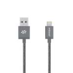 mBeat ® 'Toughlink'1.2m Lightning Fast Charger Cable - Grey/Durable Metal Braided/MFI/ Apple iPhone X 11 7