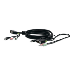 Belkin SOHO Replacement Cable, 1.8m 1.8m Black KVM cable