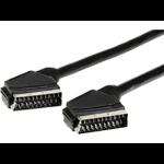 eSTUFF 1.5m SCART - SCART 1.5m SCART (21-pin) SCART (21-pin) Black SCART cable