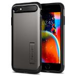 """Spigen Slim Armor mobiele telefoon behuizingen 11,9 cm (4.7"""") Hoes Zwart, Grijs"""