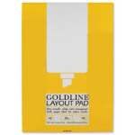 Gold Line Goldline Layout Pad Bank Paper 50gsm 80 Pages A2 Ref GPL1A2Z
