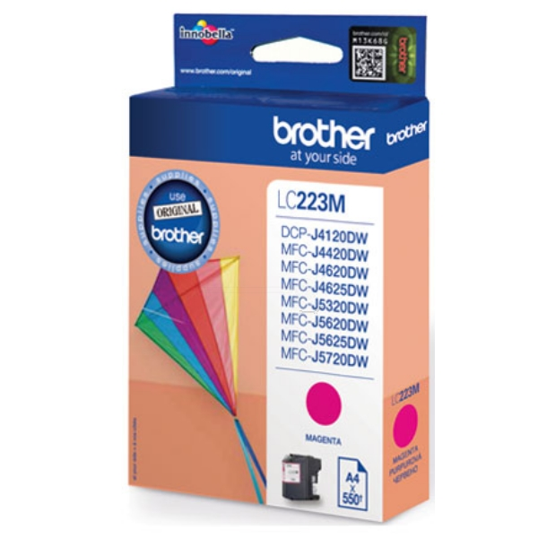 Brother LC-223M Ink cartridge magenta, 550 pages, 6ml
