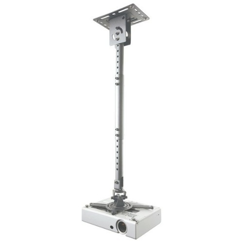 Newstar Universal Projector Ceiling Mount, Height Adjustable (58-83cm) - Silver