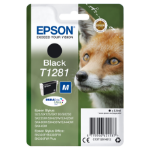 Epson Fox Singlepack Black T1281 DURABrite Ultra Ink