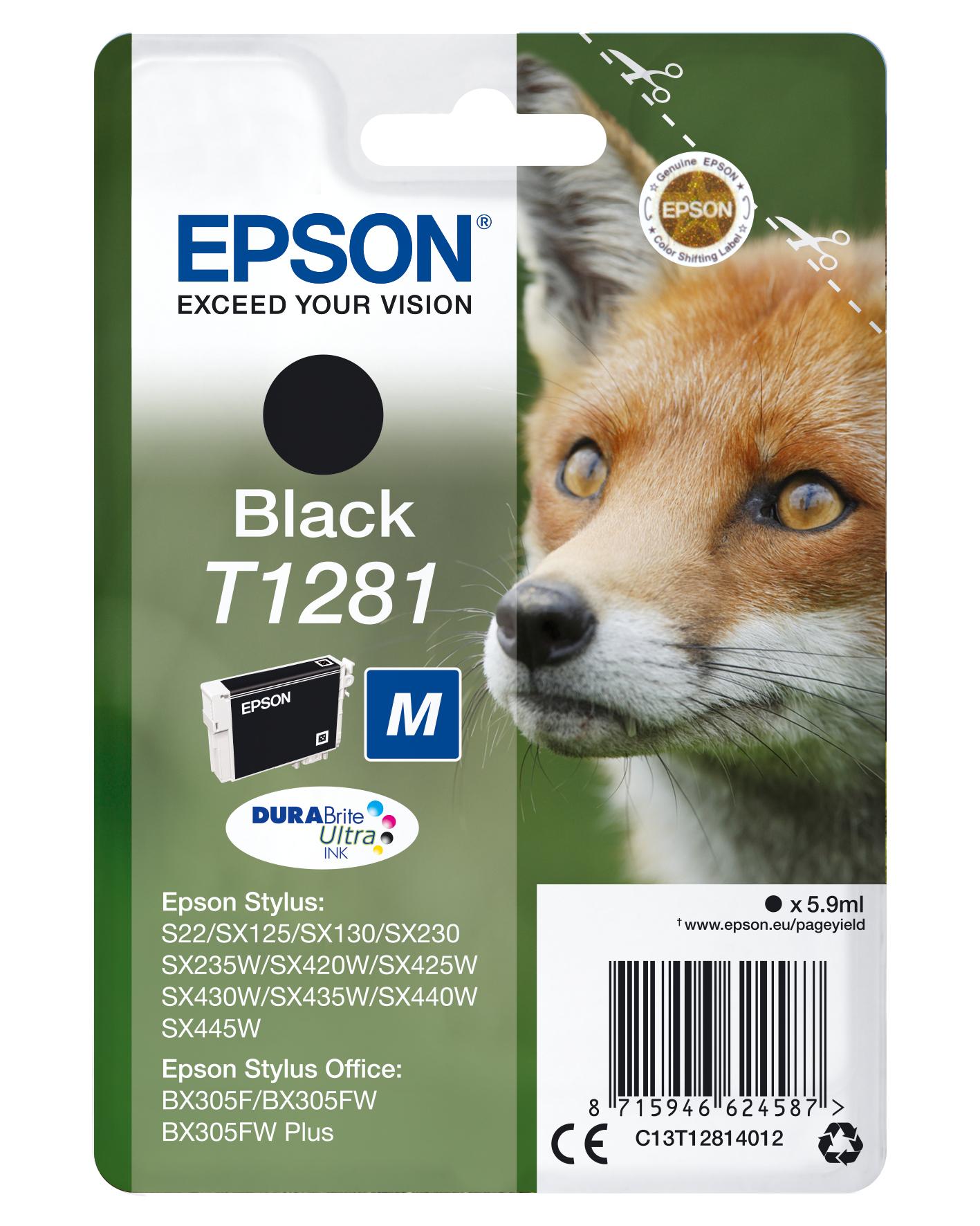 Epson Fox Cartucho T1281 negro (etiqueta RF)