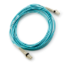 Hewlett Packard Enterprise Storage B-series Switch Cable 2m Multi-mode OM3 50/125um LC/LC 8Gb FC and 10GbE Laser-enhanced Cable 1 Pk networking cable Blue