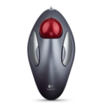 Logitech Marble Mouse (Logitech). A trackball mouse with a long- broad palm area and gentle curves keeps your