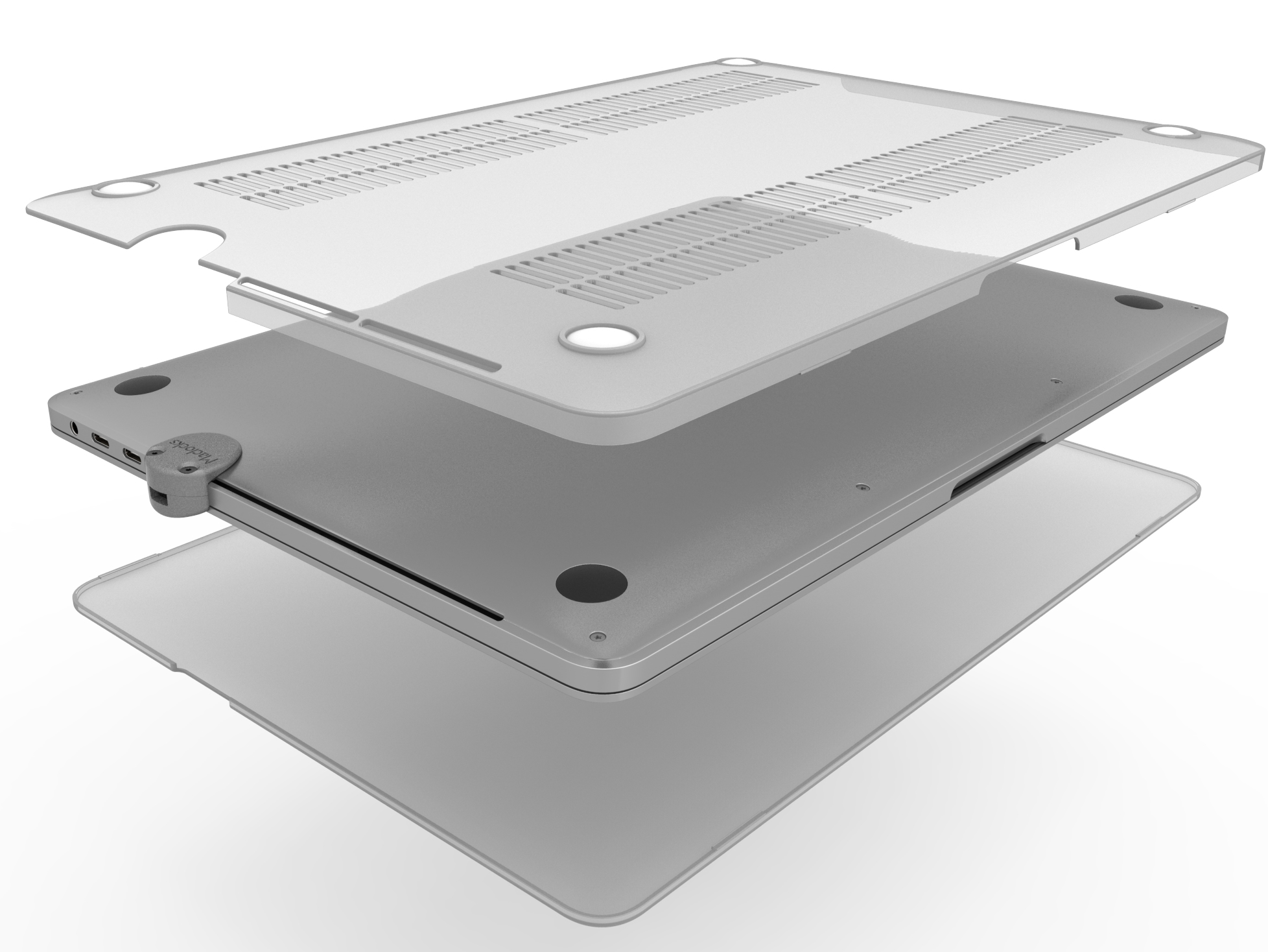 """Compulocks The Ledge - MacBook Pro 13.3"""" Touch Bar Cable Lock Adapter and HardShell Case - Keyed Cab"""