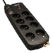 Tripp Lite Protect It! 230V Surge Protector with 8 French/Belgian Outlets, French Plug, 2280 Joules, Tel/Coax Protection