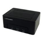 LC-Power LC-DOCK-U3-HUB storage drive docking station USB 3.2 Gen 1 (3.1 Gen 1) Type-B Black