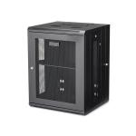 "StarTech.com 15U 19"" Wall Mount Network Cabinet - 16"" Deep Hinged Locking IT Network Switch Depth Enclosure - Assembled Vented Computer Equipment Data Rack w/Shelf & Flexible Side Panels"