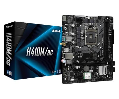 Asrock H410M/ac Intel H410 LGA 1200 micro ATX