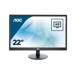 "AOC Value-line E2270SWDN LED display 54.6 cm (21.5"") Full HD Flat Black"