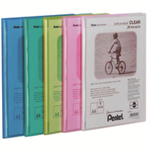 Pentel Recycology A4 Display Book Clear 20Pkt Assorted PK5