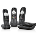 Gigaset AS405A Trio Analog/DECT telephone Black Caller ID