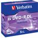 Verbatim DVD+R Double Layer Matt Silver 8x