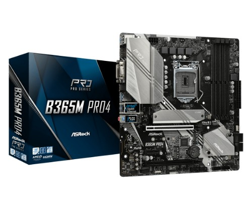 Asrock B365M Pro4 motherboard LGA 1151 (Socket H4) Micro ATX Intel B365