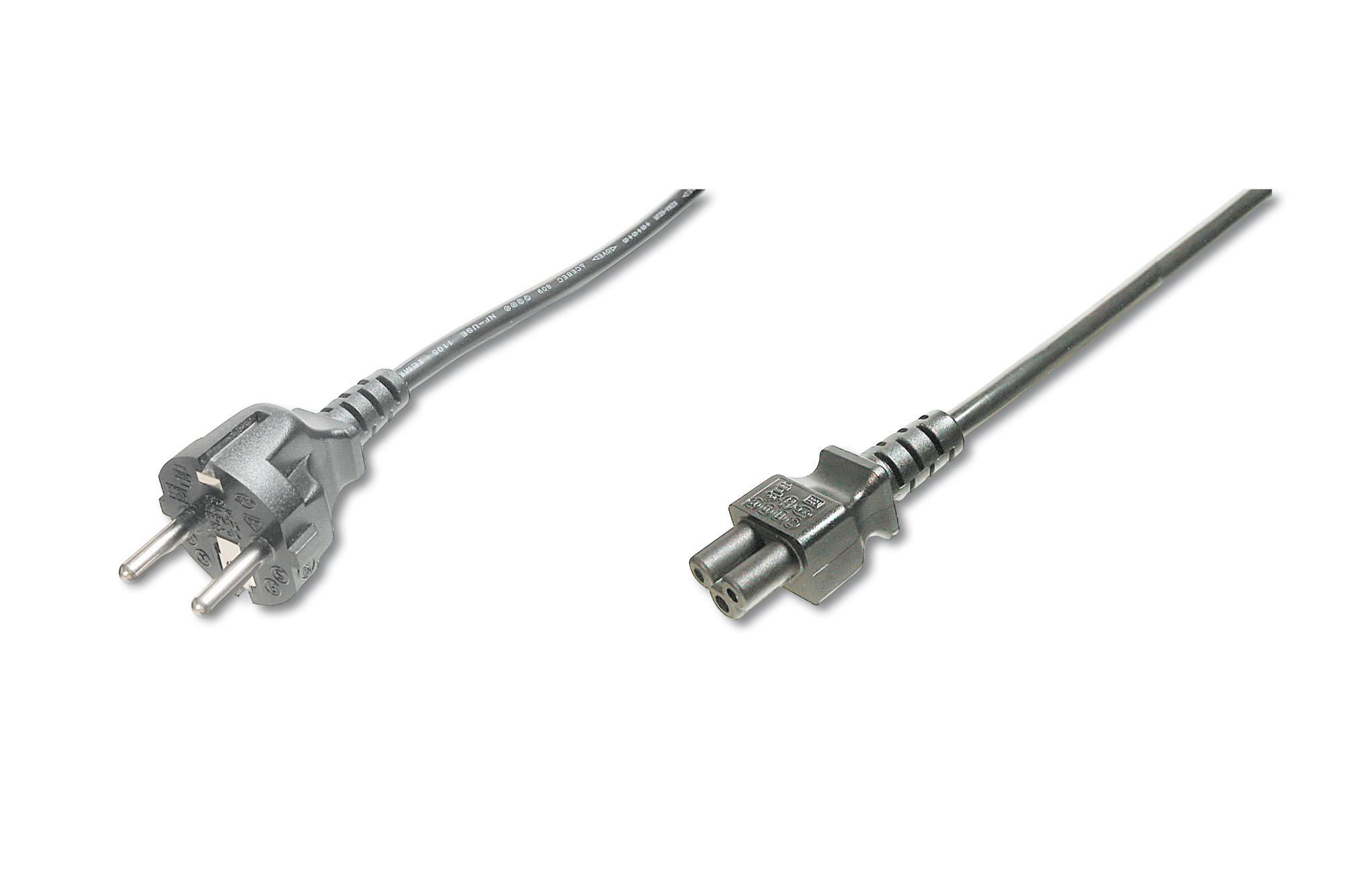 ASSMANN Electronic AK-440103-018-S cable de transmisión Negro 1,8 m CEE7/7 C5 acoplador