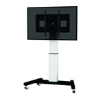 "Newstar PLASMA-M2500SILVER 100"" Portable flat panel floor stand Black,White flat panel floorstand"