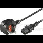Microconnect PE090405 power cable Black 0.5 m Power plug type G C13 coupler