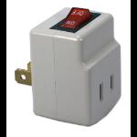 QVS PA-1P-2PK power plug adapter Grey