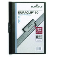 Durable DURACLIP® 60 A4 PVC Black report cover