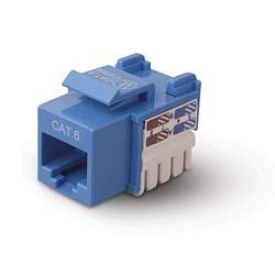Belkin Cat6 Keystone Jacks, blue Blue cable interface/gender adapter