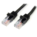 StarTech.com Cable de 1m Negro de Red Fast Ethernet Cat5e RJ45 sin Enganche - Cable Patch Snagless