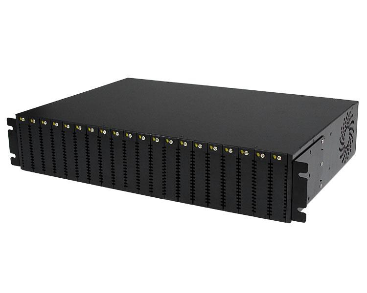 StarTech.com 20-Slot 2U Rack Mount Media Converter Chassis for ET Series 2 Fiber Media Converter